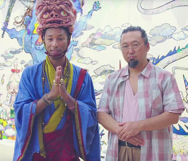 Pharrell Visits Takashi Murakamiu0027s Studio.